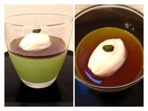 抹茶ババロワ マスカルポーネクリーム