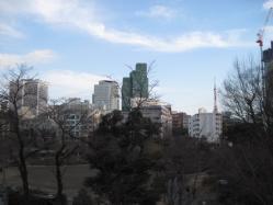 檜町公園と東京タワー
