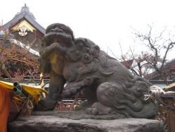 湯島天神の狛犬阿