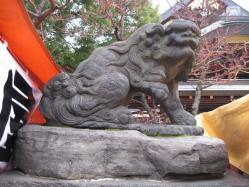 湯島天神の狛犬吽