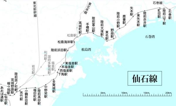 仙石線路線図