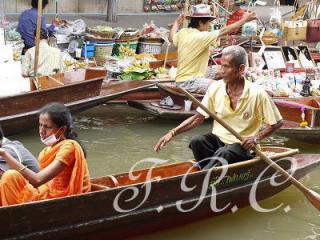 バンコク 水上マーケット タイランド 観光ツアー スパ