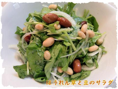 ほうれん草と豆のサラダ