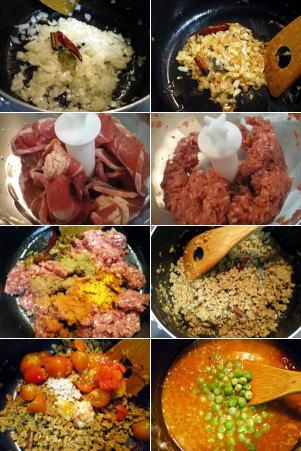ラムひき肉とグリンピースのカレー