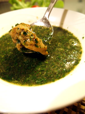 モロヘイヤスパイススープ