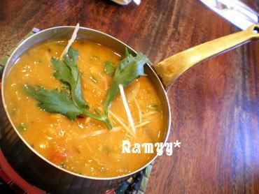 シタールの豆カレー