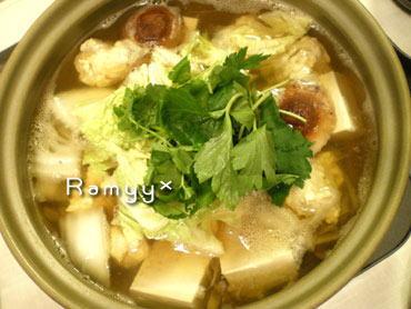 鶏肉団子の鍋
