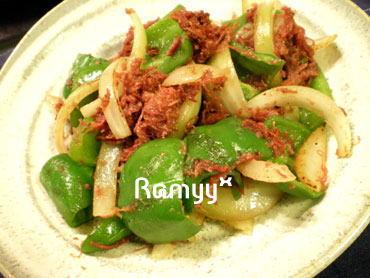 コンビーフの野菜炒め