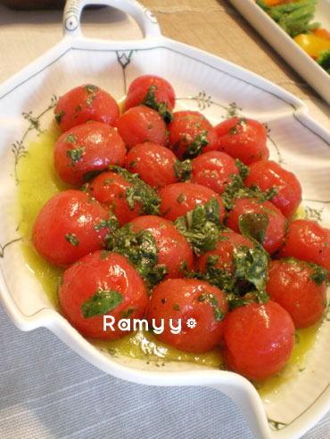トマトのバジルマリネ