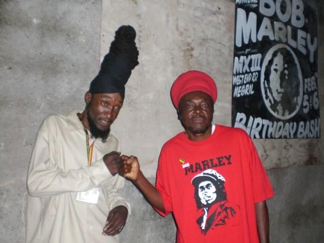 Boby Blue & African Symbol in Negril Bob Marley Birthday