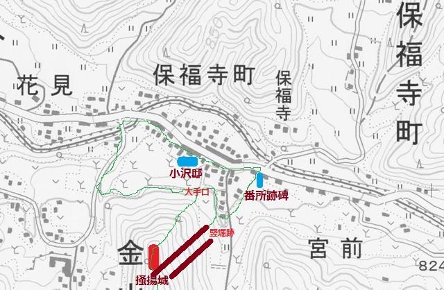 保福寺番所地図