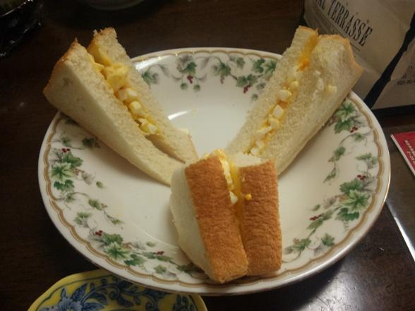 SPIRIT作の卵サンド
