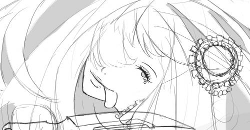 何か描いている途中