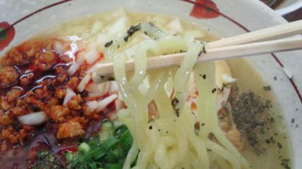 ごいんごいん バジル風味塩ラーメン 麺