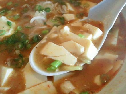らーめんとやの マーボー麺 豆腐
