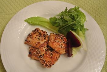 鶏肉の胡麻ソテー
