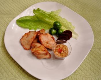 鶏のから揚げ葱ソース