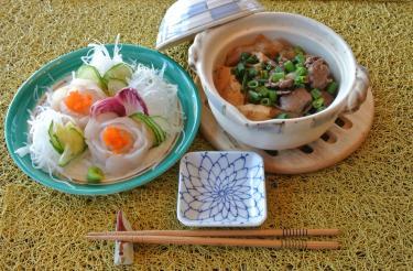 お刺身と肉豆腐