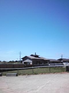 土田牧場と青い空