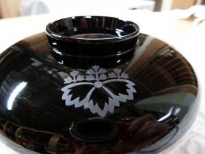 黒塗椀の紋