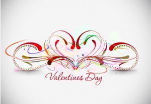 美しいバレンタインデーの背景 beautiful heart-shaped Valentine pattern イラスト素材_4