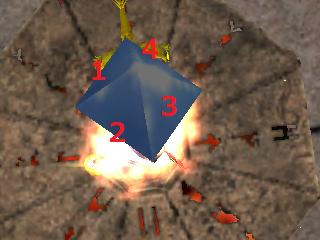 ロストーレルム城中央の水晶は何角錐2個でできてる?