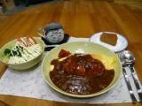 オムハヤシ定食