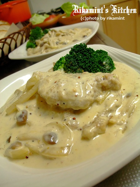 DSCF 11・7豚ヒレのマスタードクリーム煮 (3)