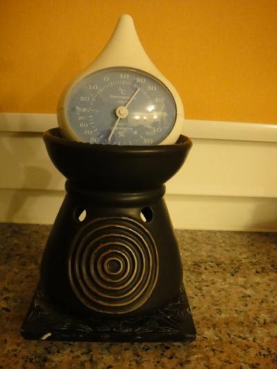 室内の気温と湿度計