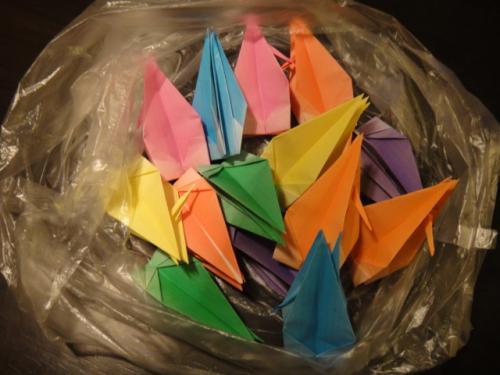 プレゼントの鶴