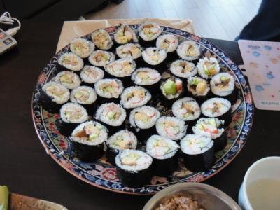 寿司パーティー (太巻き)