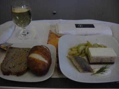 Lufthansa First Class ディナー (前菜)