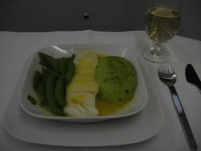 Lufthansa First Class ディナー (fish)
