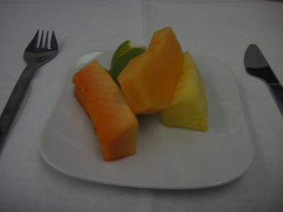 Lufthansa First Class 食後のデザート
