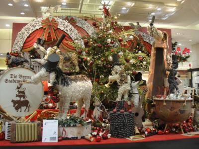 百貨店のクリスマス装飾