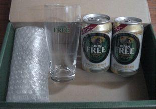 グラス2個&キリンフリー2本