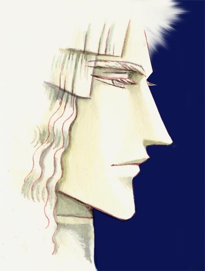 彫りの深い横顔