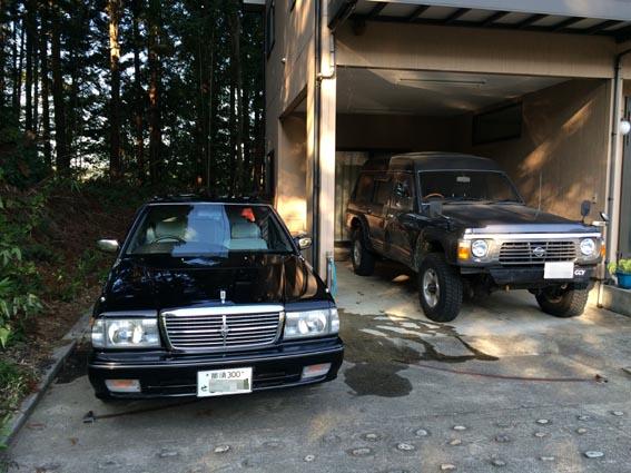 洗車と戦車