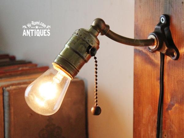 USA工業系LEVITON真鍮ウォールランプ/アンティーク壁掛ライト