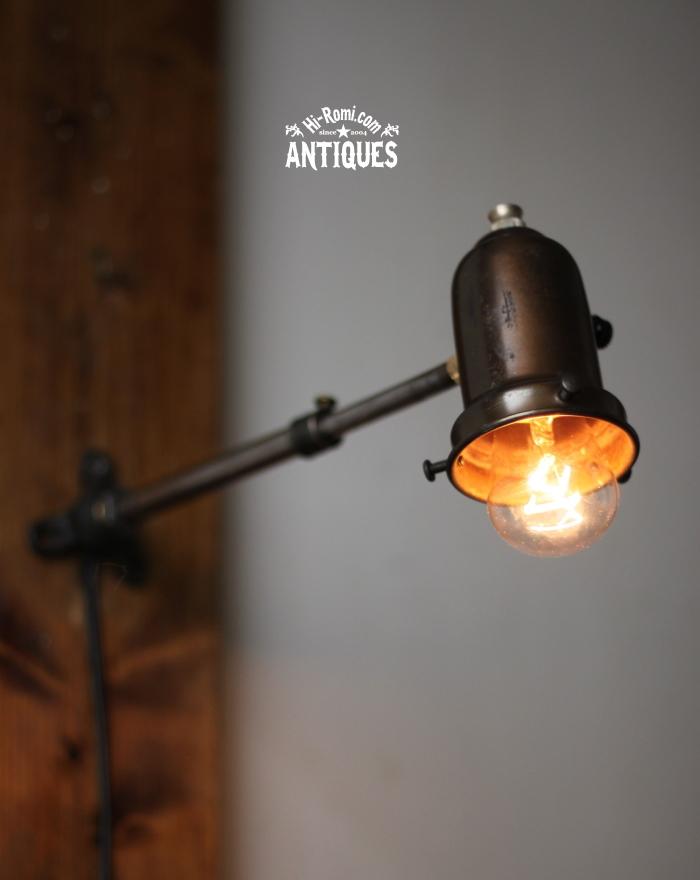 2012auction097 工業系伸縮アーム調整付ウォールランプ/アンティーク壁掛ライト