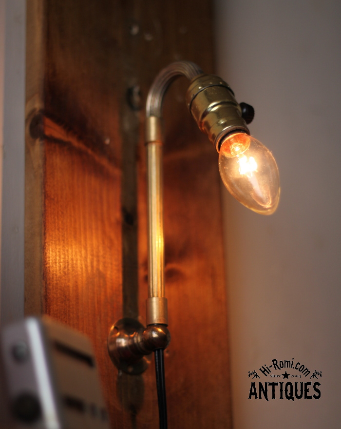 2012auction101 USA LEVITONミニソケット真鍮壁掛ライト/アンティーク照明ランプ