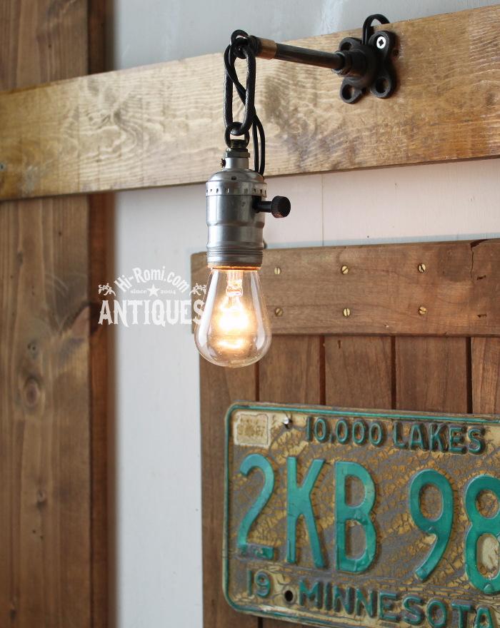 2012auction128 USA工業系真鍮ウォールランプ兼用ペンダントライト/アンティーク