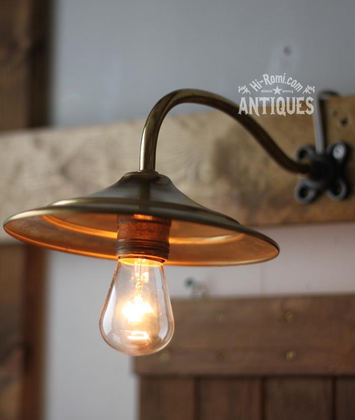 2012auction134 USA真鍮シェード工業系壁掛ライト/アンティークウォールランプ