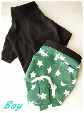 手作りワンコ服 星パンツ⑤