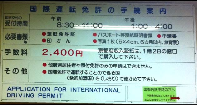 国際免許証発行