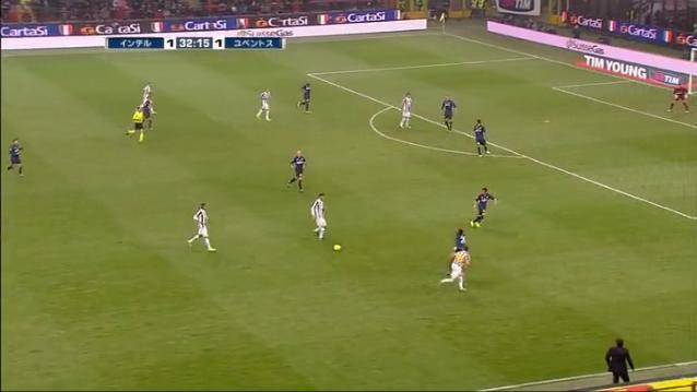 2011-2012 セリエA第9節インテルミラノvsユヴェントス ユーヴェ2点目②