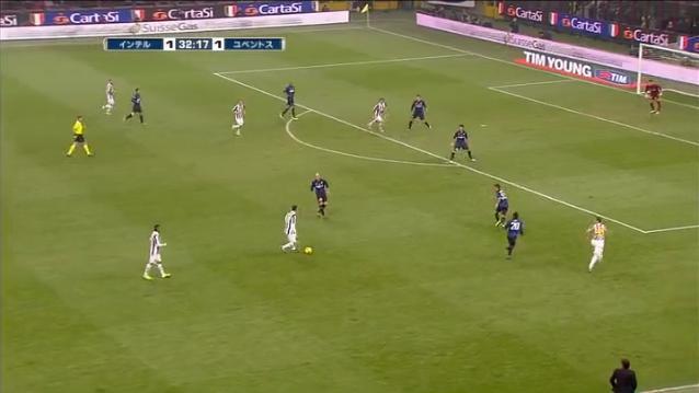 2011-2012 セリエA第9節インテルミラノvsユヴェントス ユーヴェ2点目③