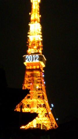 東京タワー夜に( 上寺周辺)