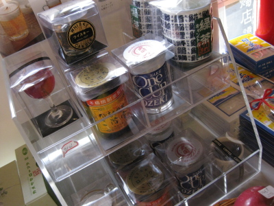 ユニークなキャンドルいっぱい@小澤ろうそく店