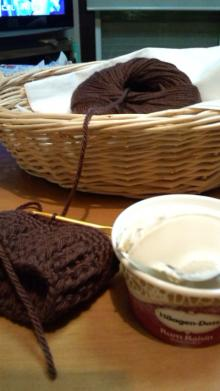 アイスと毛糸